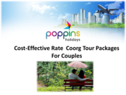 Enjoy Your Honeymoon With Coorg Honeymoon Packages